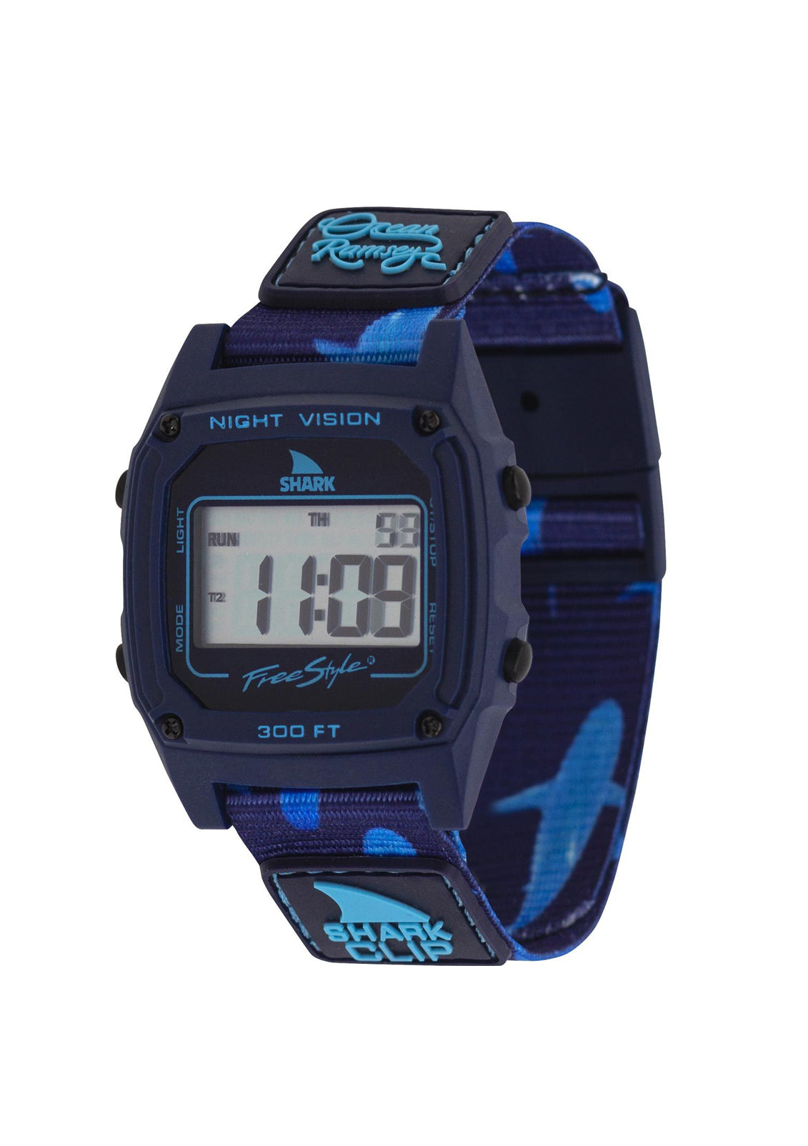 Ocean Ramsey Signature Shark Classic Clip Watch Deep Blue