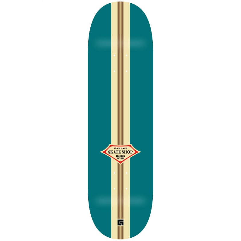 Jack's Garage Retro Surf Skate Deck