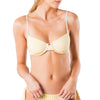 Blaze Reversible Striped Soft Cup Bra Bikini Top
