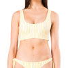 Blaze Reversible Striped Scoop Neck Bikini Bra Top
