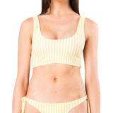 Rusty Women's Blaze Reversible Striped Scoop Neck Bikini Bra Top
