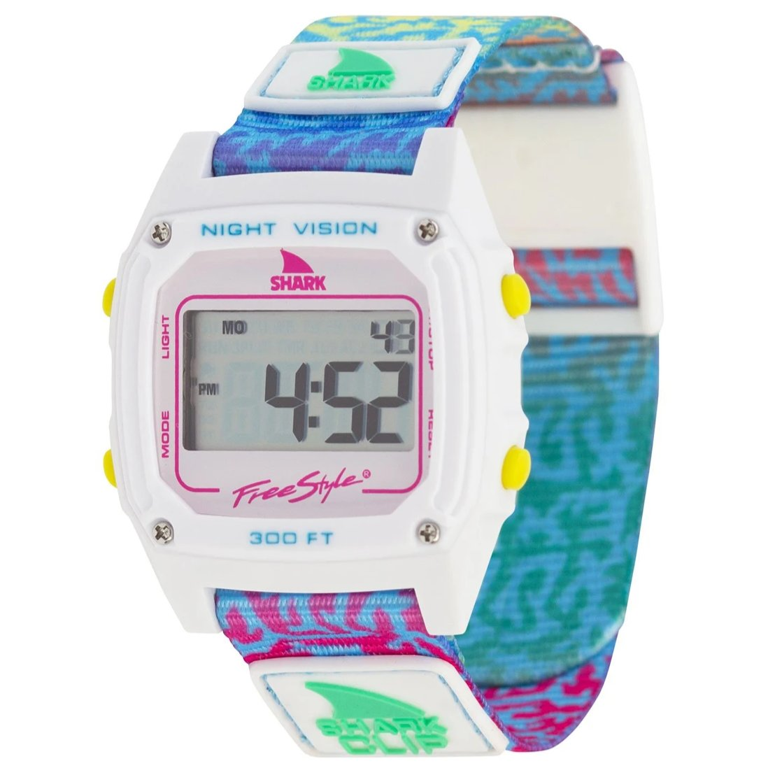 Shark Classic Clip Watch Coral Rainbow