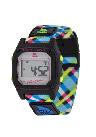 Shark Classic Clip Watch Neon Plaid