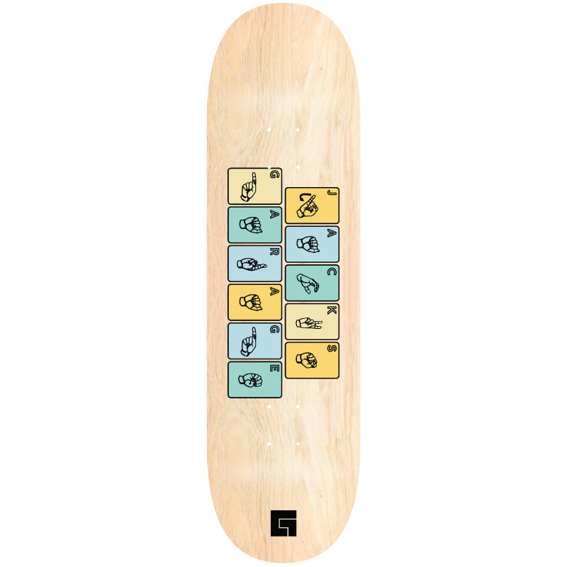 Sign Language Skate Deck