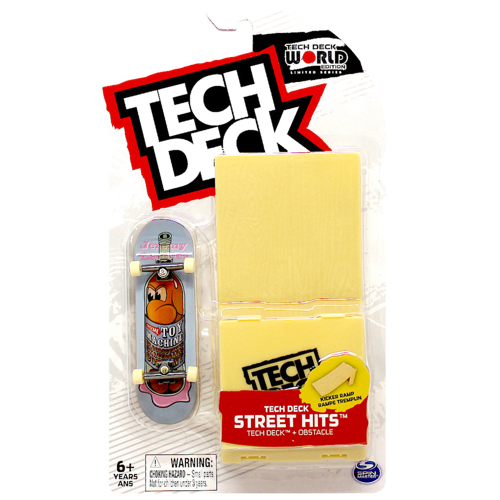 Toy Machine Tech Deck Street Hits Skateboard W/ Kicker Ramp