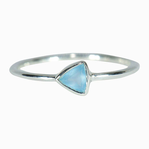 Pura Vida Triangle Chalcedony Ring