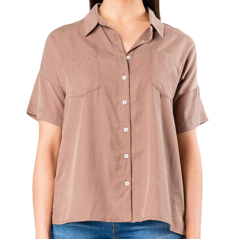 Rusty Women's Aries S/S Button Up Shirt