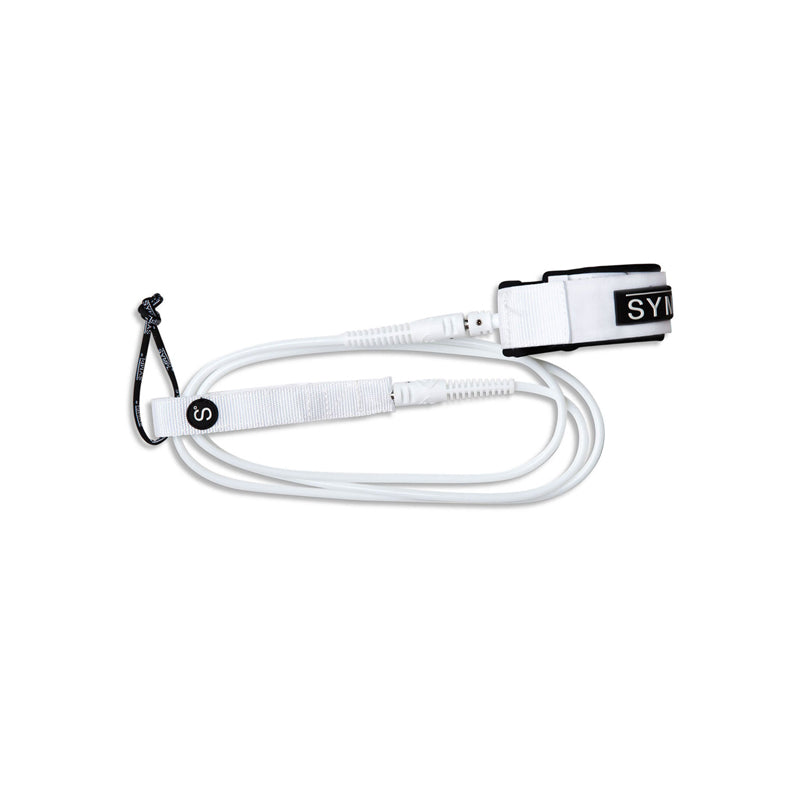 SYMPL Supply Co. White Longboard Leash