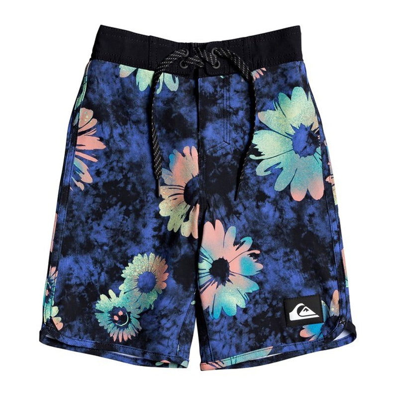"Boys (2T-7X) Highline Sprayed Daisy 14"" Boardshorts"