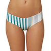 Womens Allie Stripe Hipster Swim Bottoms