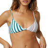 Womens Allie Stripe Knot Top Swim Top