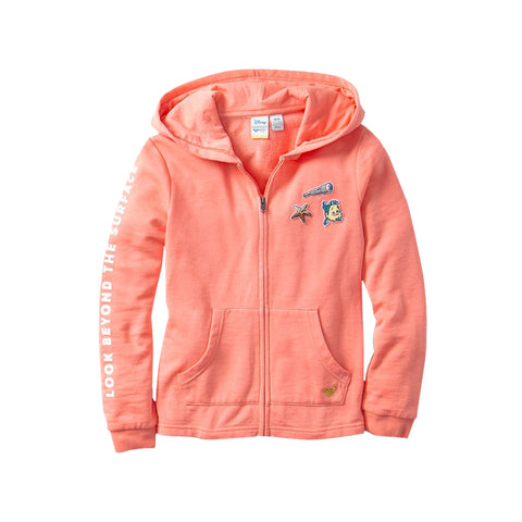 Roxy Girls Mask And Snorkels Zip-Up Hoodie