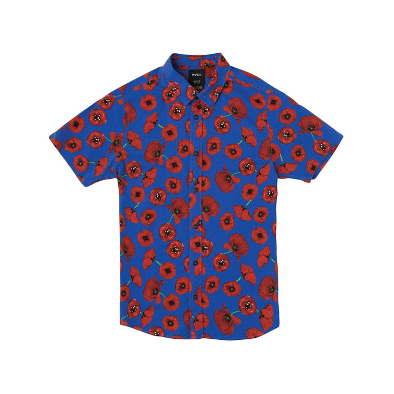 Peace Poppy S/S Button Up Shirt