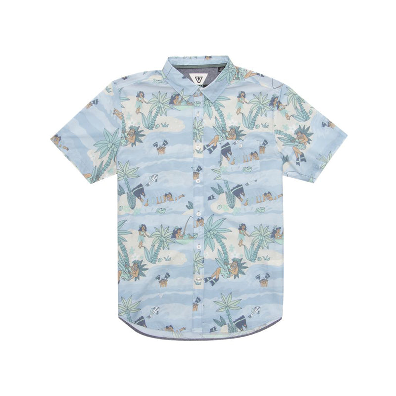 Vissla Boys DaFin Point Panic Button Up Short Sleeve Shirt