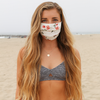 Unisex Comfy Face Mask in 'White Floral'