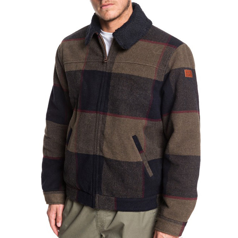 Quiksilver Hurry Down Sherpa Collar Zip-Up Jacket