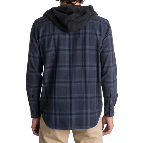 Quiksilver The Magston Button Up Hooded Flannel