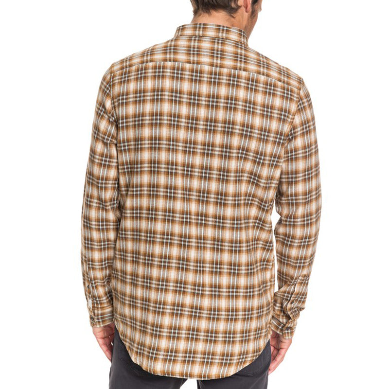 Quiksilver Inca Gold Check Long Sleeve Flannel