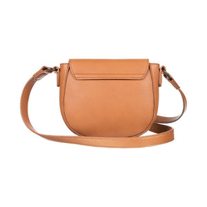 Vegan Brownie Small Faux Leather Shoulder Bag