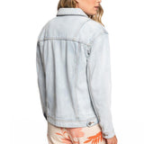 Roxy Womens Midnight Drive Denim Boyfriend Jacket
