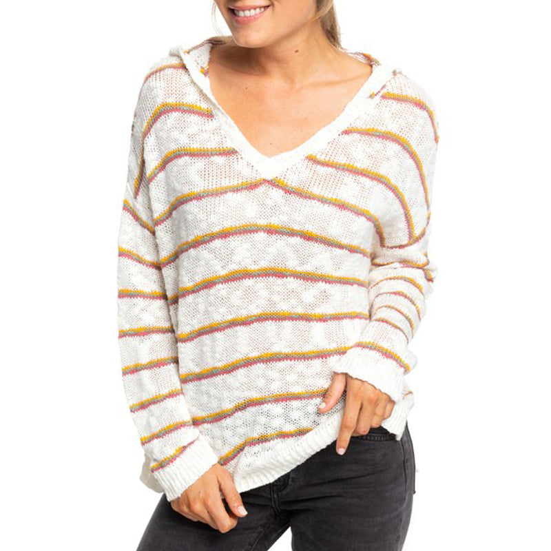 Roxy Women's Sandy Bay Beach Stripe Sweater