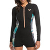 Roxy Women's 1.5mm POP Surf Long Sleeve Front Zip Shorty Springsuit FA19
