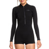 Roxy Women's 1.5mm Satin Long Sleeve Front Zip Shorty Springsuit FA19