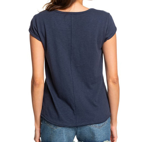 Roxy Women's Perfect kind Of J V-Neck T-Shirt