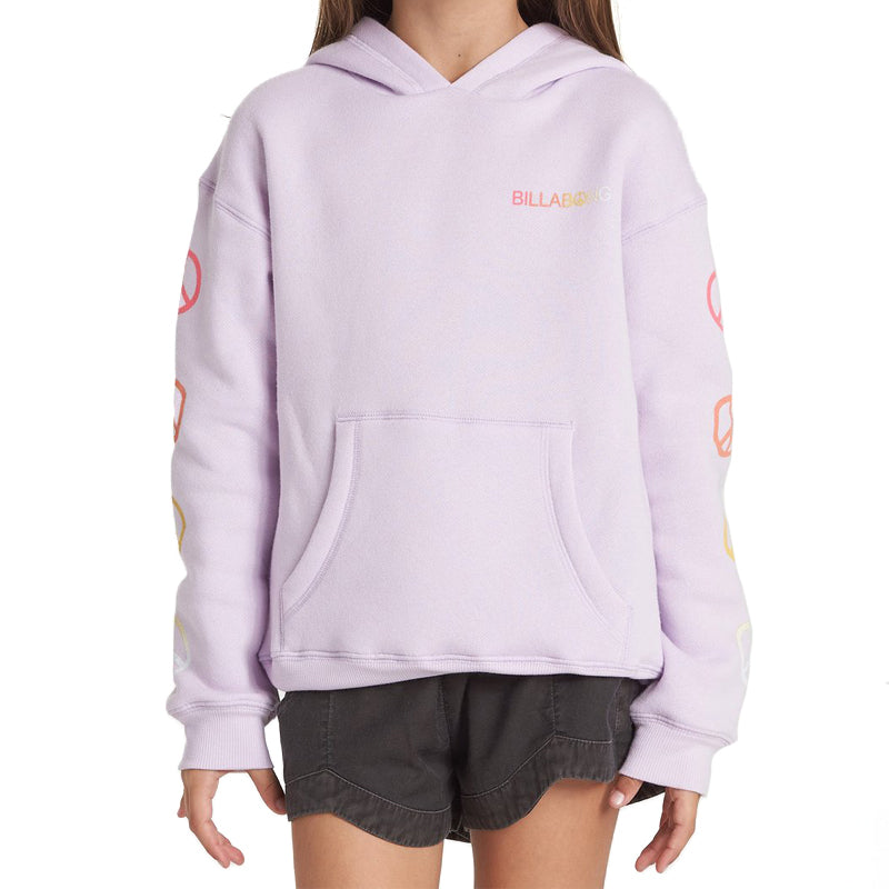 Girls Peace Love And Waves Hoodie
