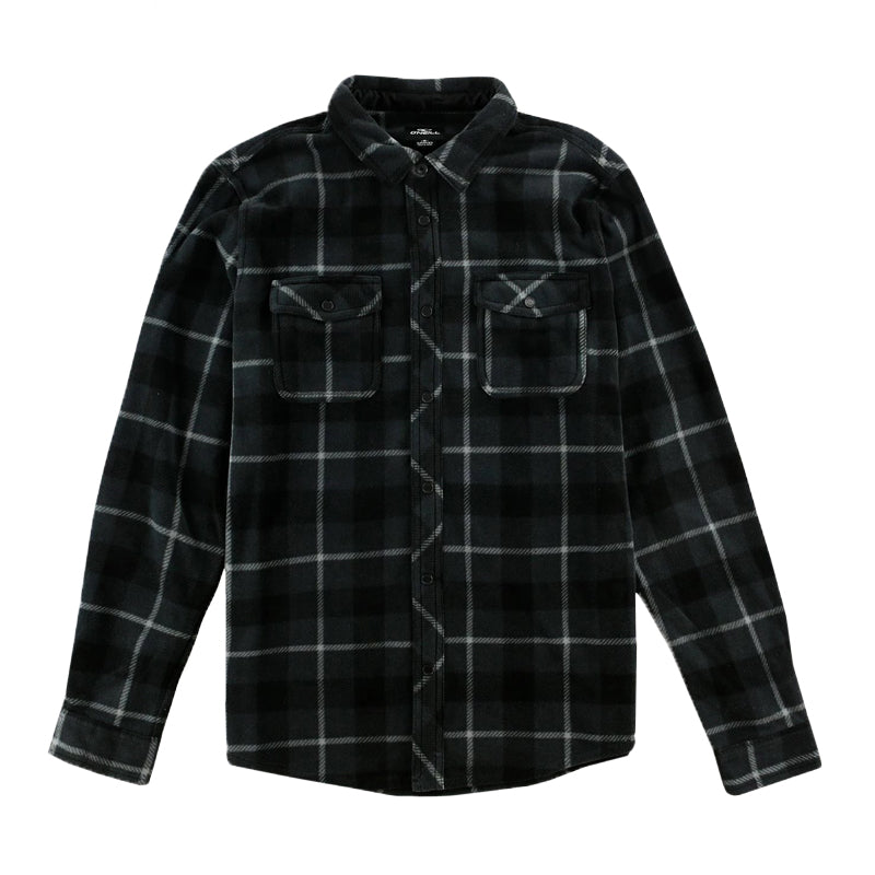 O'Neill Men's Glacier Plaid Superfleece L/S Flannel FA19