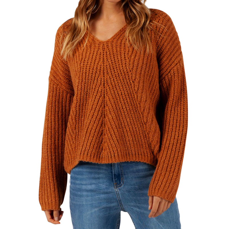 Rip Curl Women's Woven V Neck Sweater