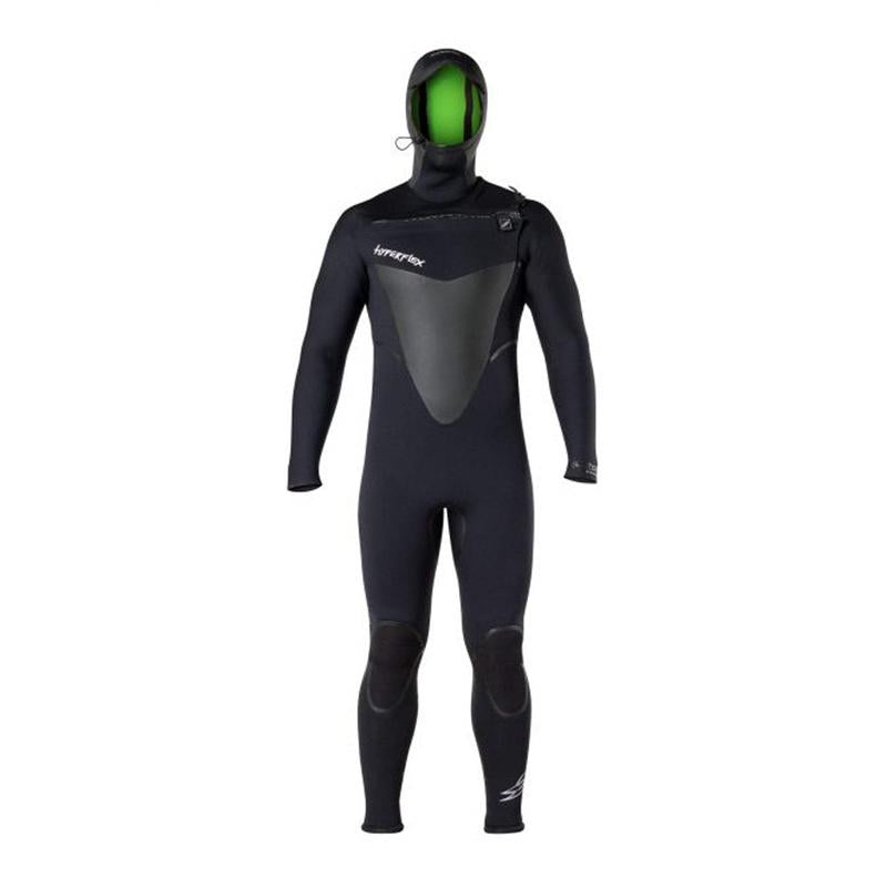 Hyperflex Men's 4mm Voodoo Hooded Chest Zip Fullsuit Wetsuit