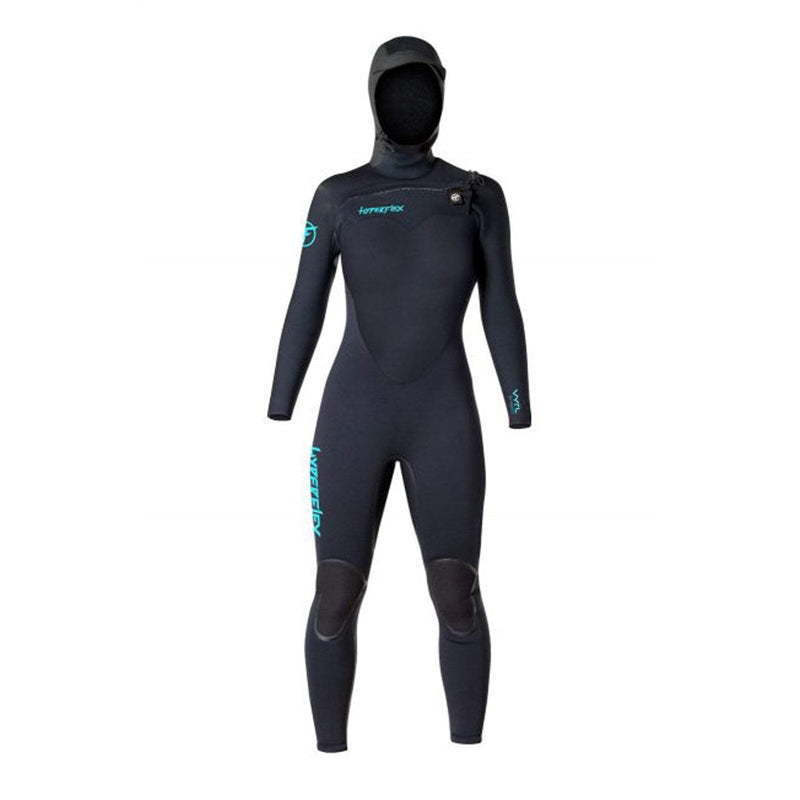 Hyperflex Women's 5/4mm VYRL Hooded Front Zip Fullsuit