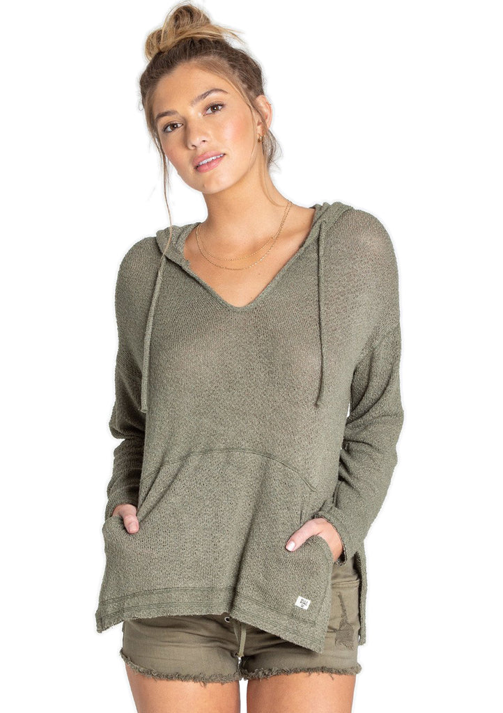 Billabong Womens Days In The Sun Hooded Long Sleeve Top