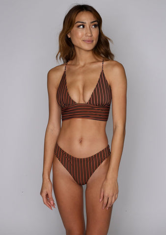 Courtney Deep Plunge Swim Top