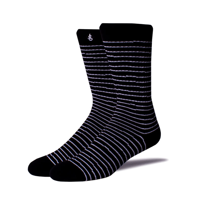 Mens Socks 'White Stripes'