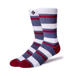 Mens Socks 'Grey/White Stripes'
