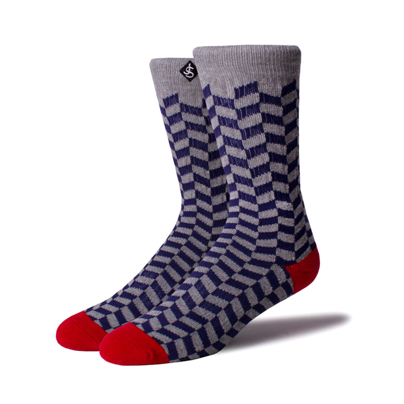 Mens Socks 'Blue Checker'