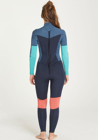 Billabong Womens 4/3 Furnace Synergy Back Zip Fullsuit