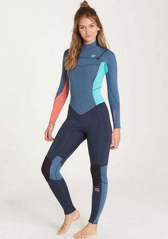 Billabong Womens 4/3 Furnace Synergy Chest Zip Fullsuit
