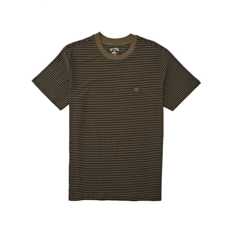 Die Cut Stripe Short Sleeve Crew T-Shirt