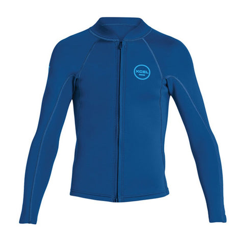 Xcel Youth Axis 2/1mm L/S Front Zip Surf Top SP19