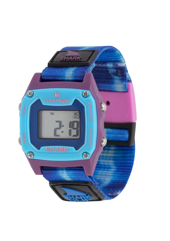 Shark Mini Clip Watch Tie-Dye Blue Sea