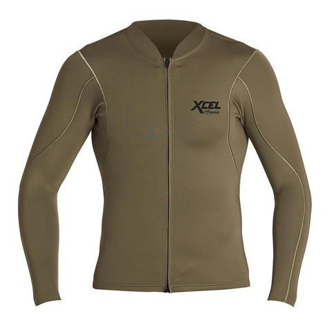 Xcel Men's Axis 1/0.5mm LS Front Zip FA19