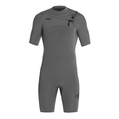 Xcel Men's Comp X 2mm S/S Chest Zip Springsuit Wetsuit FA19