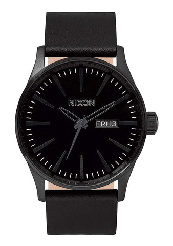 Nixon Men's Sentry Leather Watch