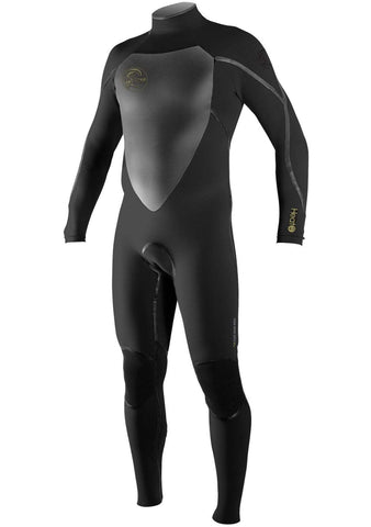 O'Neill Men's Heat 4/3 3Q-Zip Fullsuit Surfing Wetsuit (PAST SEASON)