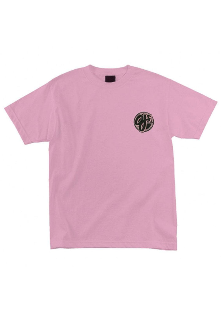 OJ Wheels Mens Pink Logo Regular S/S Tee