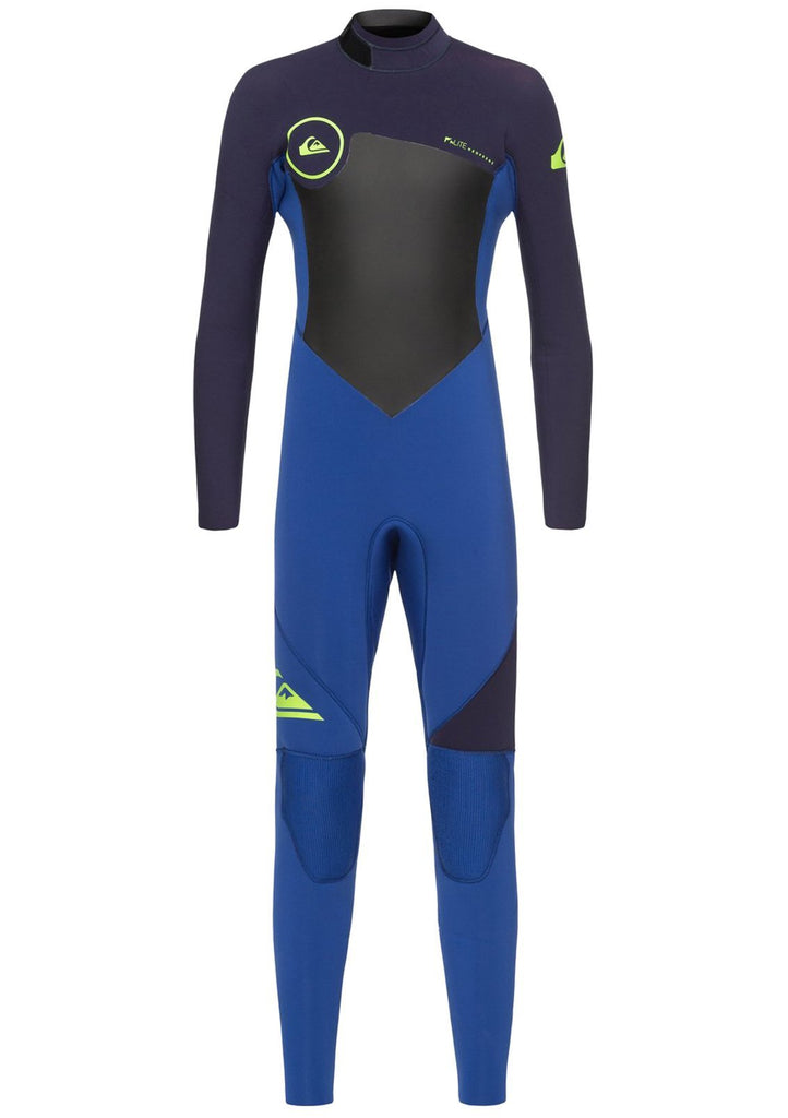Quiksilver Boy's 3/2mm Syncro Series Back Zip GBS Fullsuit Wetsuit
