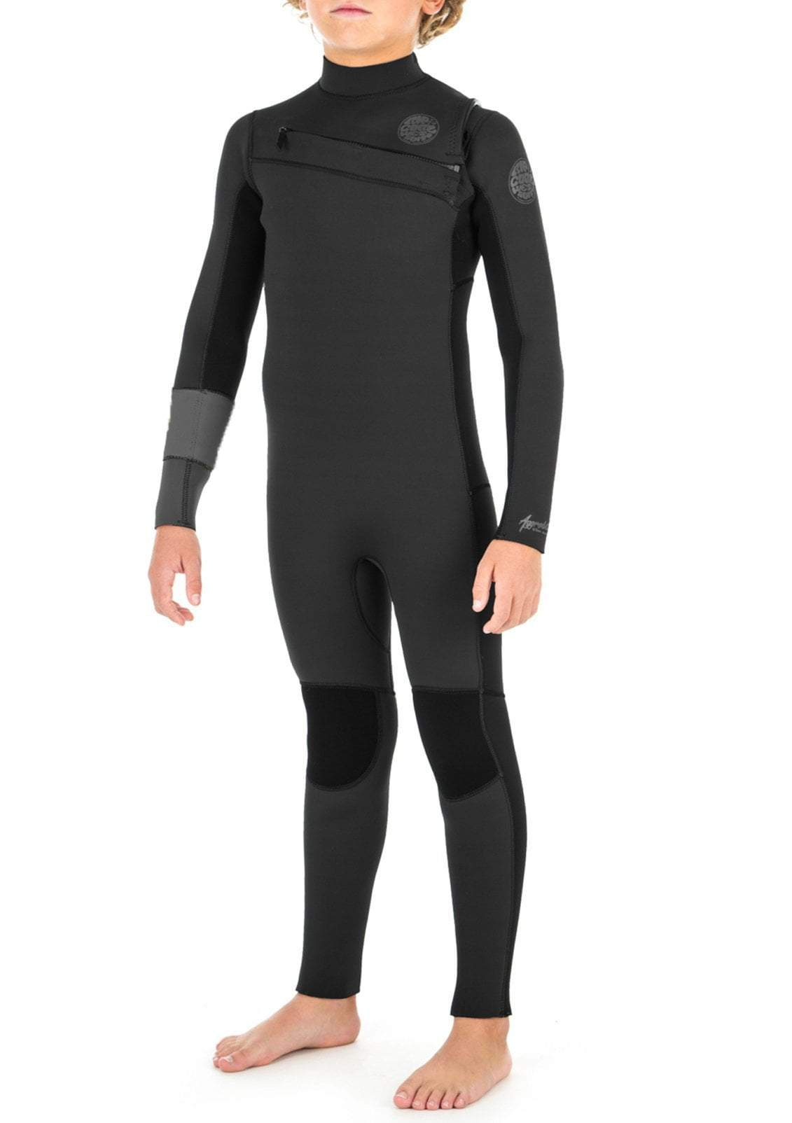 Rip Curl Youth Aggrolite 4/3 Chest Zip Fullsuit Wetsuit